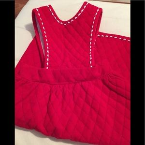 Vintage 70s Sears Dress 4T Red With White Trim